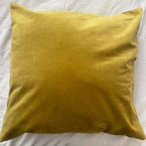 Gold velvet pillow